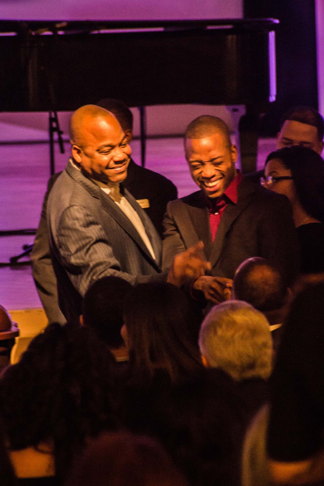 James Andrews and Trombone Shorty at Allen Toussaint funeral