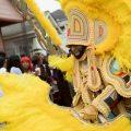 Downtown Super Sunday 2018 - Big Chief Demond, Young Seminole Hunters - Photo by Noe Cugny