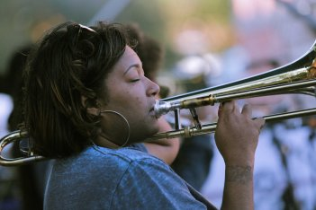 French Quarter Fest 2018 04/15/18 - Original Pinettes Brass BandFrench Quarter Fest 2018 - Original Pinettes Brass Band - Dionne Harrison Photo by Noé Cugny